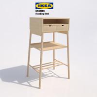 3d model ikea knotten standing desk