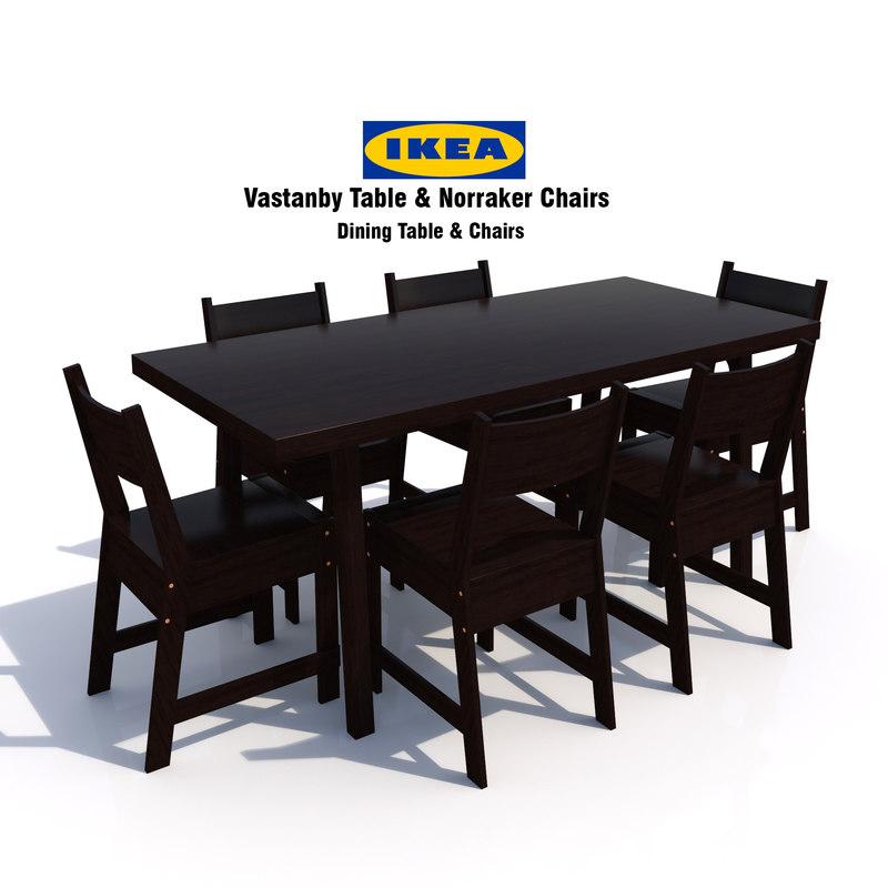 3d Ikea Vastanby Table Norraker