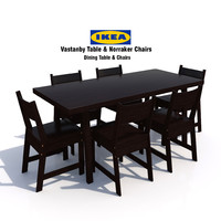 3d ikea vastanby table norraker