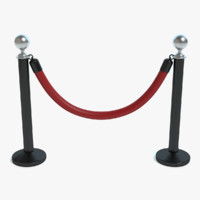 3d model stanchion posts
