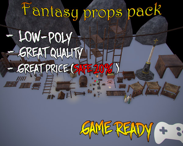 asset pack props 3ds