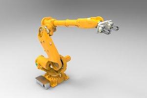 3d industrial robot arm model