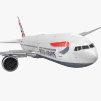 3d boeing 777-8x british airways