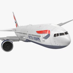 3d boeing 777-8x british airways