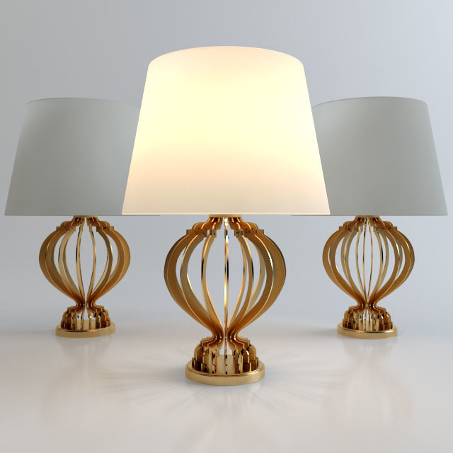 free quillen table lamp 3d model