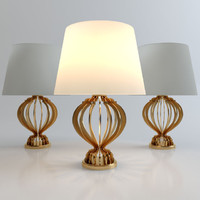 free quillen table lamp 3d model
