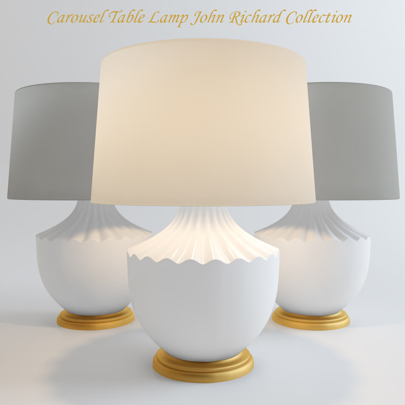 3d carousel table lamp