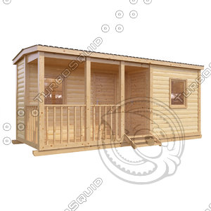 cabin workers 3d max