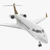 3d bombardier global 6000