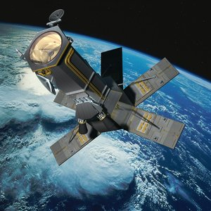 3d worldview-4 satellite model