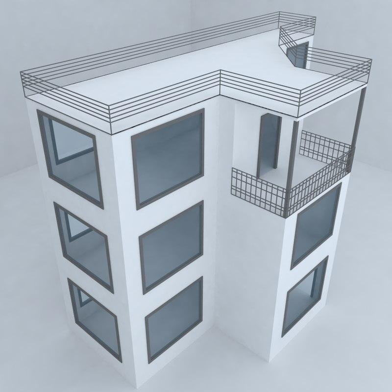 villa street architecture 3d max