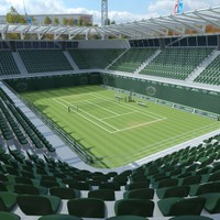 3d tennis court arena model