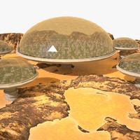3d planet cities model