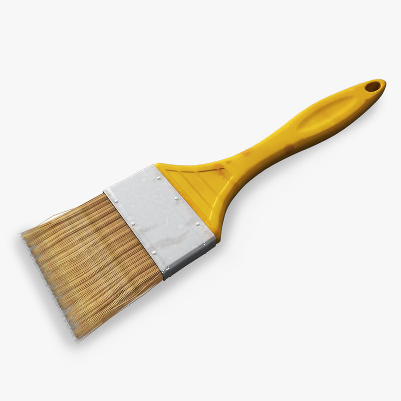 paint brush 3d model