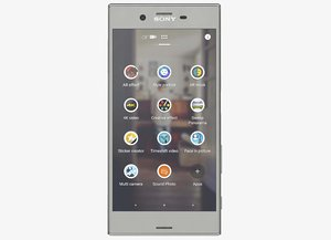 sony xperia xz platinum 3d model