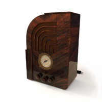 3d vintage zenith 812 radio model