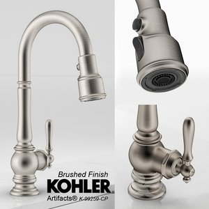 3d kohler artifacts bar faucet model