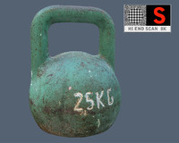 old russian kettlebell 3d model