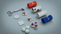 bandages gauze swabs 3d model