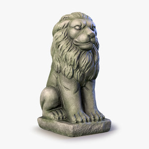 3d model of lion statue