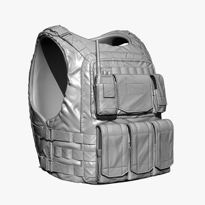 bullet-proof vest 3d 3ds