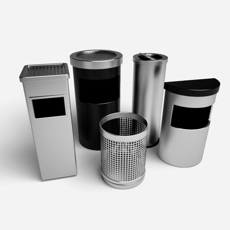 ashtray bin 3d model
