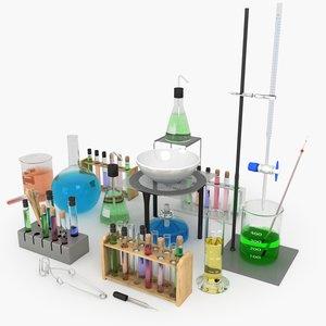 3d chemistry set model