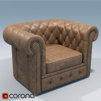 classik sofa armchair 3d model