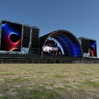 scene live stage lights 3d ma