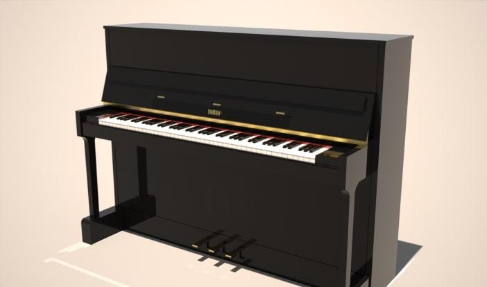3d model of yamaha piano