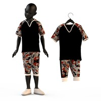 fashion baby child boys 3d model