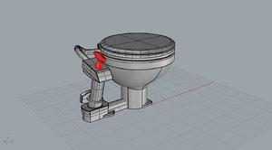marine toilet 3d 3ds
