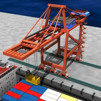 Shipping Container Crane Aminated