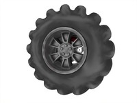 Off-road wheel with suspension