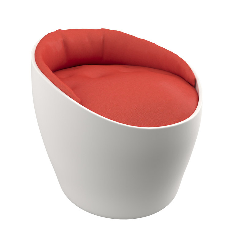 3d small armchair