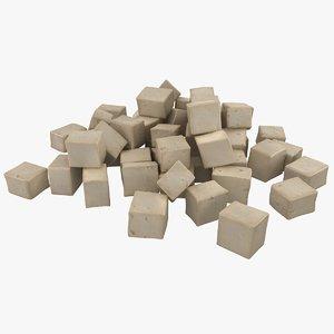 realistic fresh tofu max