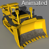 bulldozer animation 3d model