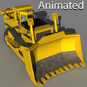 bulldozer animation 3d model