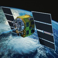 Satellite Global Positioning System GPS Animated