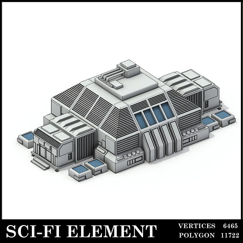 max lowpolygon scifi element