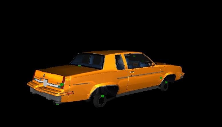 1983 cutlass supreme 3d model