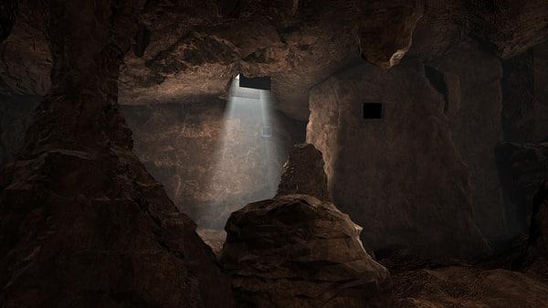 dungeon cave 3d obj