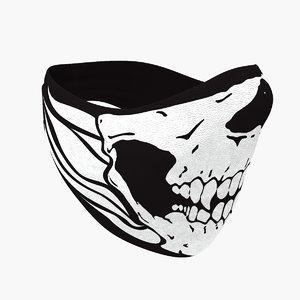 skull balaclava mask 3d model