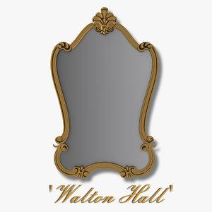 3d walton hall - antique model