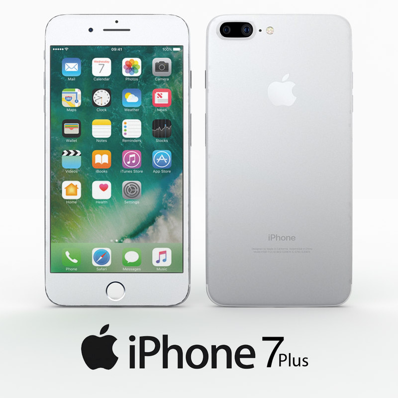 apple iphone 7 3d obj