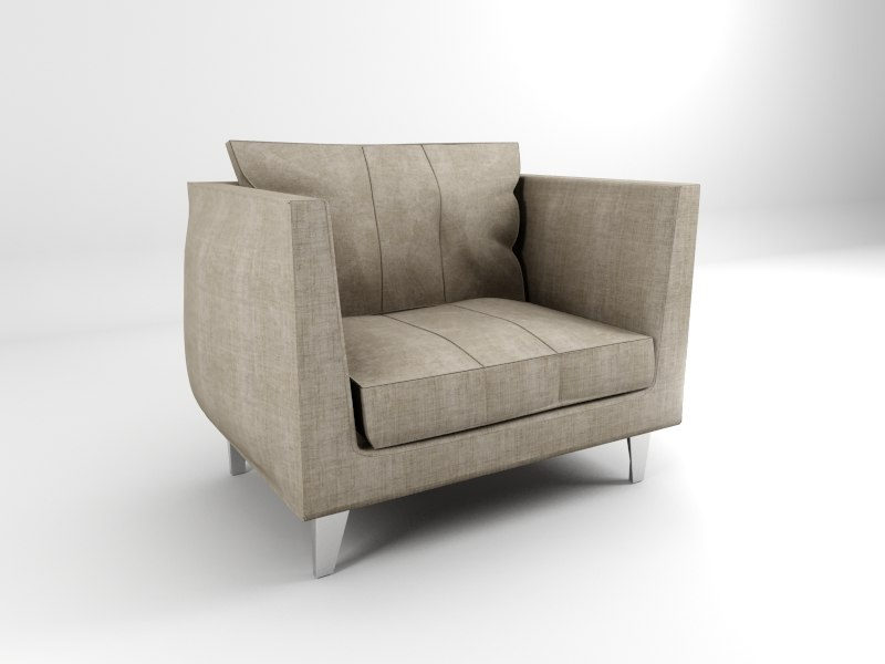 polygonal chair living room 3d 3ds