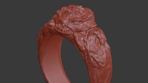 3d model ring yogg saron