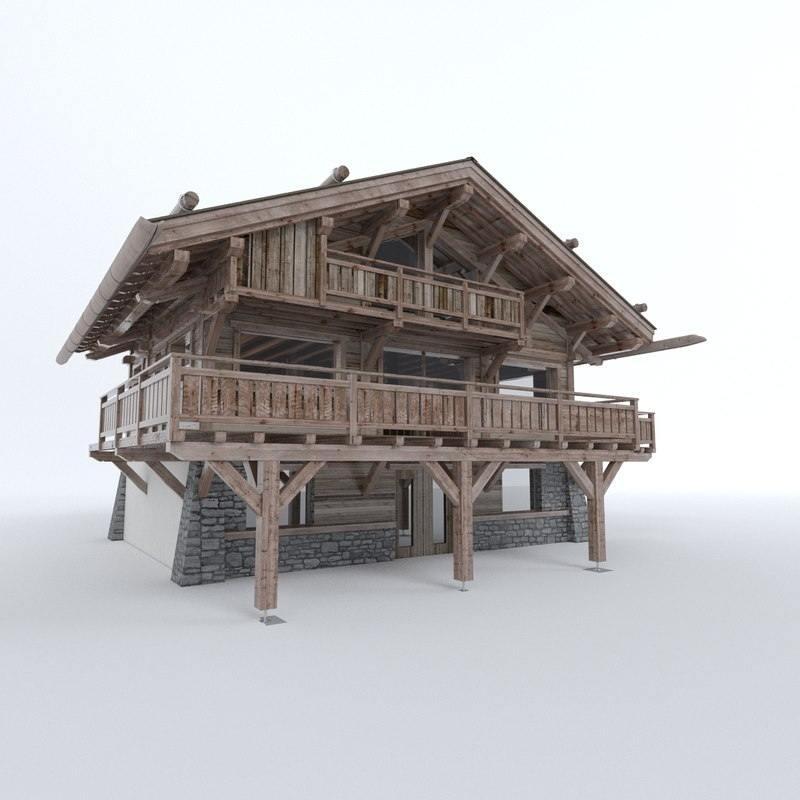 chalet 3d model