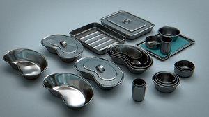 3d bowls trays - vessels