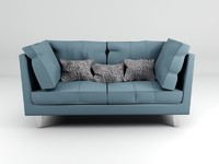 3d model sofa living room